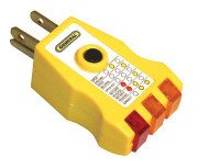 General Tools GF1302 3 Wire Circuit Tester with GFCI, UL Listed