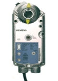 Siemens GMA1561U, OpenAir GMA Series Electric Damper Actuator, rotary, spring return, 62 lb-in (7 Nm), 24 Vac/dc, 2 to 10 Vdc control, 90 sec run time, position feedback, signal inversion, inverse acting, dual auxiliary switches