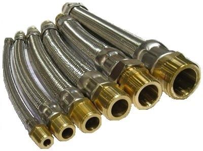 """HCI Flexible Hose Connectors HC-AM _ -18, 1/2"""", 18"""""""
