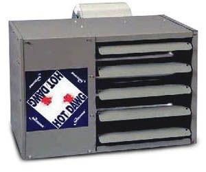 Modine HDB 125, Hot Dawg Power Vented - CFM nominal 1,240 - BTU 125,000 - Aluminized - Blower Unit - HP 1/2