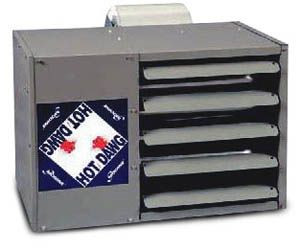 Modine HDC 60, Hot Dawg Separated Combustions - CFM nominal 635 - BTU 60,000 - Aluminized - Blower Unit - HP 1/4