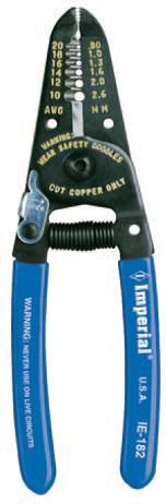 Imperial Stride Tool IE-182 (Milbar 15E), Stripper/Cutter - 10-20 AWG, with Lock and Spring