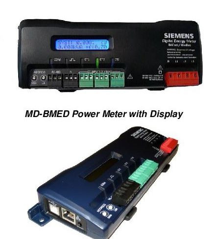 "Siemens MD-BMED-3-CTSC-400, BACnet-Modbus Meter with display, and three 400A, split-core current transformers with 125"" windows"
