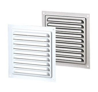 Vents US MVM 150 S, 6x6 Metal Vent Grille with Polymeric Coating