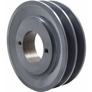 """Packard P2AK39H, Two Groove Bushing Pulleys For 4L Or A Belts 375"""" OD"""