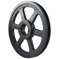 "Packard PBK75H, Single Groove Bushing Pulleys For 4L Or A Belts And 5L Or B Belts 725""OD"