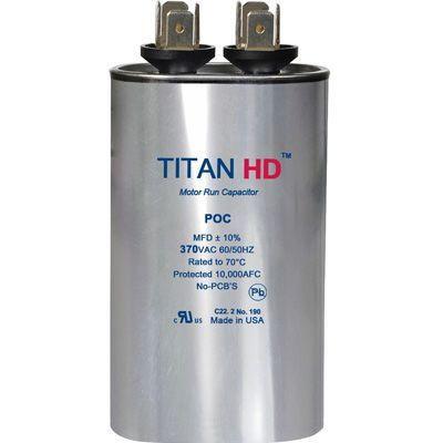 Titan HD POC35A, 370 Volt Oval Run Capacitor 35 MFD