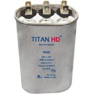 Titan HD POCD2510A, 370 Volt Oval Run Capacitor 25+10 MFD