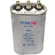 Titan HD POCFD2510A, 440 Volt Oval Run Capacitor 25+10 MFD
