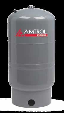 AMTROL SX-40V, 118-78 STAND MODEL, SX MODELS: EXTROL VERTICAL BOILER SYSTEM EXPANSION TANK