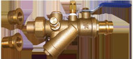 "HCi Terminator A Press Integrated Automatic Balancing Valve with Union, TA-BP-H, 3/4"", 100-150 GPM Range"