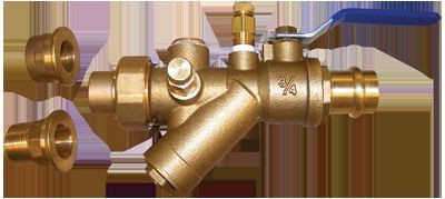 "HCi Terminator A Press Integrated Automatic Balancing Valve with Union, TA-BP-L, 3/4"", 05-90 GPM Range"