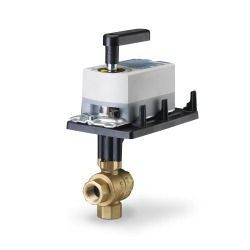 """Siemens 171A-10366, 599 Series 3-way, 1-1/4"""", 40 CV Ball Valve Coupled with 3-Position Floating, Non-Spring Return Actuator"""