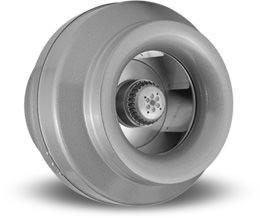 """VORTEX VTX 1200, Inline Round Centrifugal Fans 12"""", 115V/1PH/60Hz, 1140 CFM"""