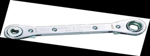 """Imperial Stride Tool 124-C, 9/16""""h & 1/2""""h Hex Ratchet; 3/16""""h & 1/4""""h Sq Ratchet Wrench"""