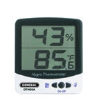 General Tools DTH03A Digital Temperature & Humidity Monitor with Jumbo Display, F/C (White)
