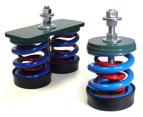 Vibro Acoustics FS-SA-45, 1 (25mm) Deflection FS, Free Spring Floor Mounted Isolators, 45 lbs rated load
