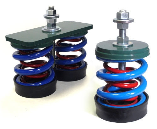 Vibro Acoustics FS-SA-600, 1 (25mm) Deflection FS, Free Spring Floor Mounted Isolators, 600 lbs rated load