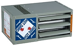 Modine HDS 100, Hot Dawg Separated Combustion - CFM 1,490 - BTU 100,000 - Stainless Steel - Propeller Unit