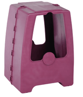 Plastec WH3, Polypropylene Weather Hood, Enclosed Pedestal, Grape Color