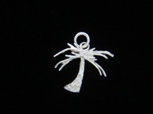 Palm Tree Pendant, Silver