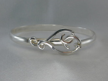 Twisted Heart Bracelet, Silver, 5mm