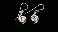 Hurricane Symbol Earrings, 14K Gold