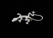 Silver Lizard Pin, Large
