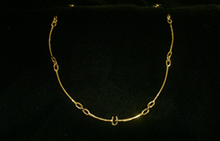 St. Croix Hook Necklace, 14K or 18K Gold