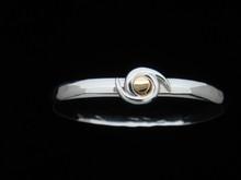 Hurricane Symbol, 6mm , Silver & 14K Gold
