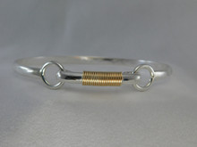 Barbell, Silver & 14K Gold, 4mm