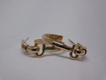 St. Croix Hook Earrings, 14K or 18K Gold, Large (50¢ size)