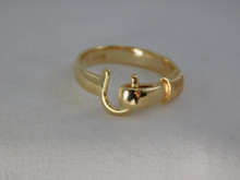 St. Croix Hook Ring, 14K or 18K Gold, 5mm