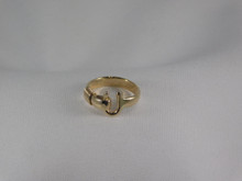 St. Croix Hook Ring, 14K or 18K Gold, 4mm