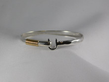 St. Croix Hook Bracelet, Silver & 14K Gold, 5mm