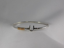St. Croix Hook Bracelet, Silver & 14K Gold, 3mm