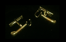 Silver & 14K Gold St. Croix Hook Cuff Links