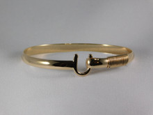 St. Croix Hook Bracelet, 14K or 18K Gold, 5mm