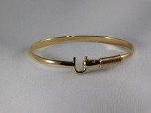 St. Croix Hook Bracelet, 14K or 18K Gold, 4mm