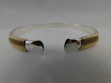Cuff, Silver & 14K Gold, 8mm