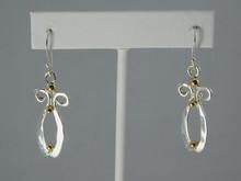 Earth Earrings, Silver & 14K Balls  - French Wire
