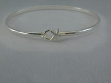 Silver 3mm Starfish Bracelet - Tiny Silver Starfish