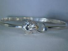 Hibiscus Bracelets, Silver & 14K Gold Balls