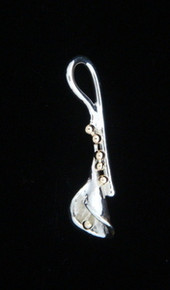 Lily Pendants , Silver with Gold Ball Shown