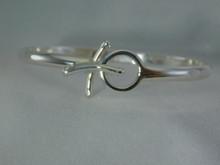 Silver Hugs & Kisses Bracelet, 4mm Shown