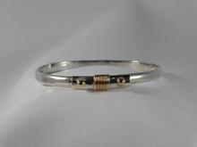Phoenix Bracelet, Silver & 14K Gold, 5mm