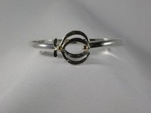 Lotus, Silver & 14K Gold, 5mm