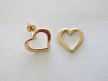 Heart Studs 14K Gold