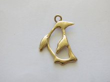 Penguin Open Pendant in 14k gold