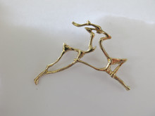 Santa's Reindeer Pin in 14k Gold
